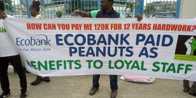 Disengaged workers threaten to shut down Ecobank