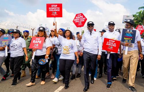 Sanwo-Olu leads walk against domestic, sexual violence
