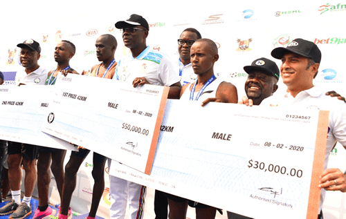 Kenyans Tumo, Cherop, win male and female categories at Access Bank Lagos City Marathon