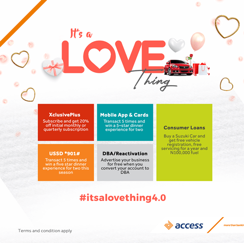 Access Bank unveils exciting offers to celebrate customers this Valentine