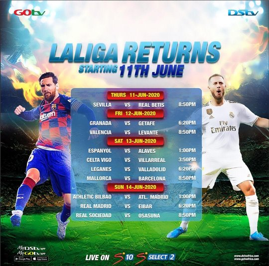 Top-Flight La Liga Matches to Air on GOtv this Weekend