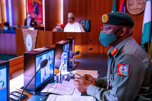 Buhari to Service Chiefs: Where, how do terrorists get their arms?