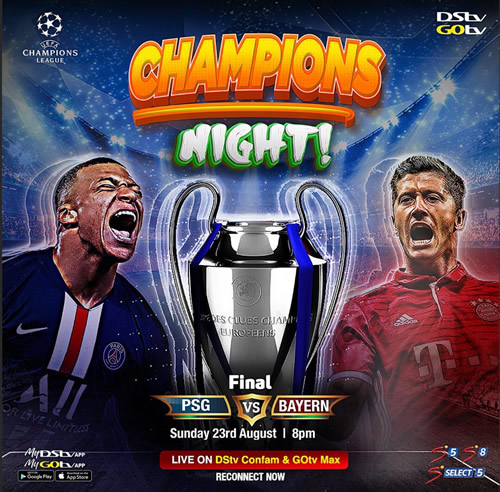 UEFA Champions League final battle to be broadcast Live on DStv and GOtv