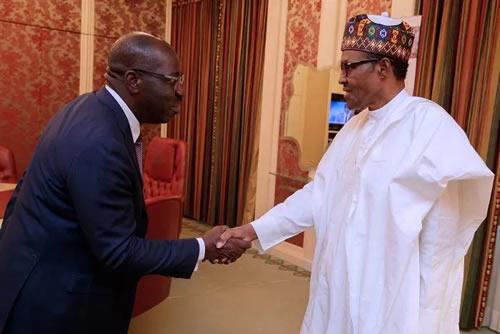BREAKING: Obaseki visits Buhari, says it will be immoral to return to APC