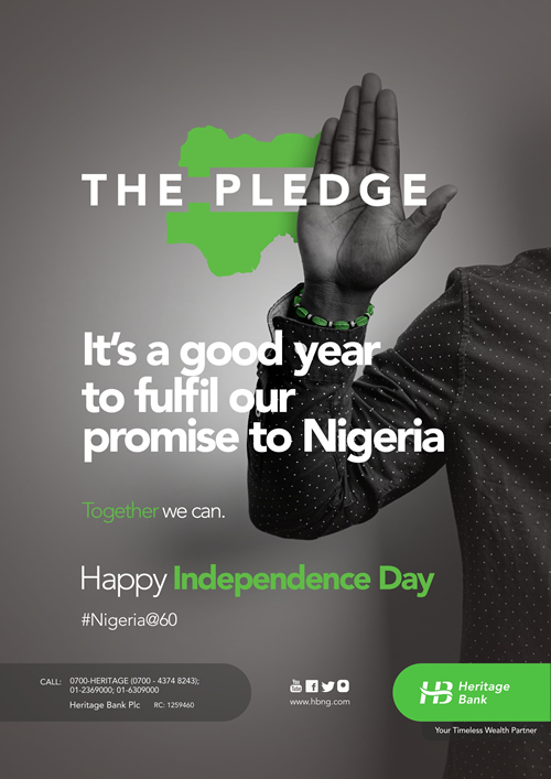 Heritage Bank joins in celebration of Nigeria @60