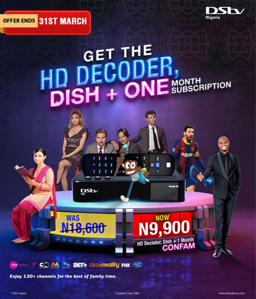 Grab the DStv new lower price deal just in time for Easter