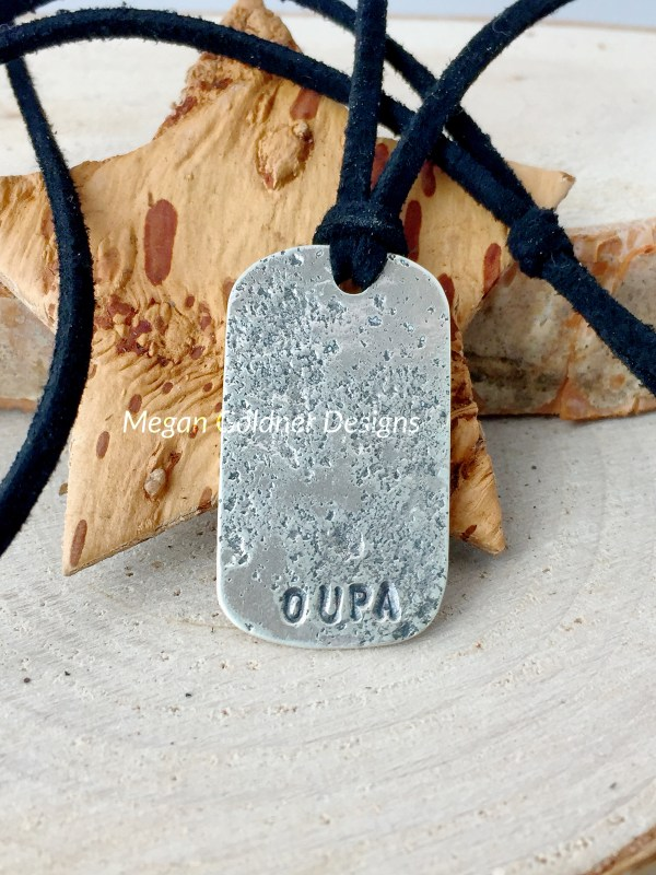 Sterling Silver Keepsake Imprint Tag Necklace