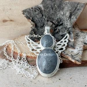 Sterling Silver Keepsake Angel Necklace
