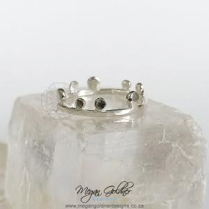 Sterling Silver Boho Crown ring
