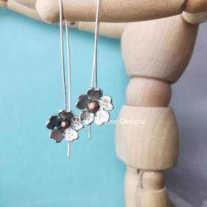 Sterling Silver Cherry Blossom Earrings