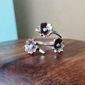 Sterling Silver Cherry Blossom Wrap Ring