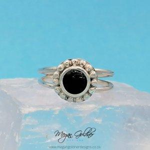 Sterling Silver Keepsake Bead Halo Ring