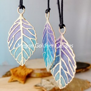 Sterling Silver Resin Skeleton Leaf Necklace