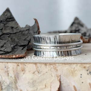 Sterling Silver Spinner Texture Ring