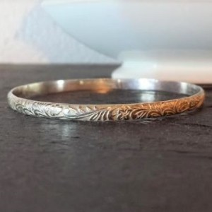 Sterling Silver Woodland Bangle