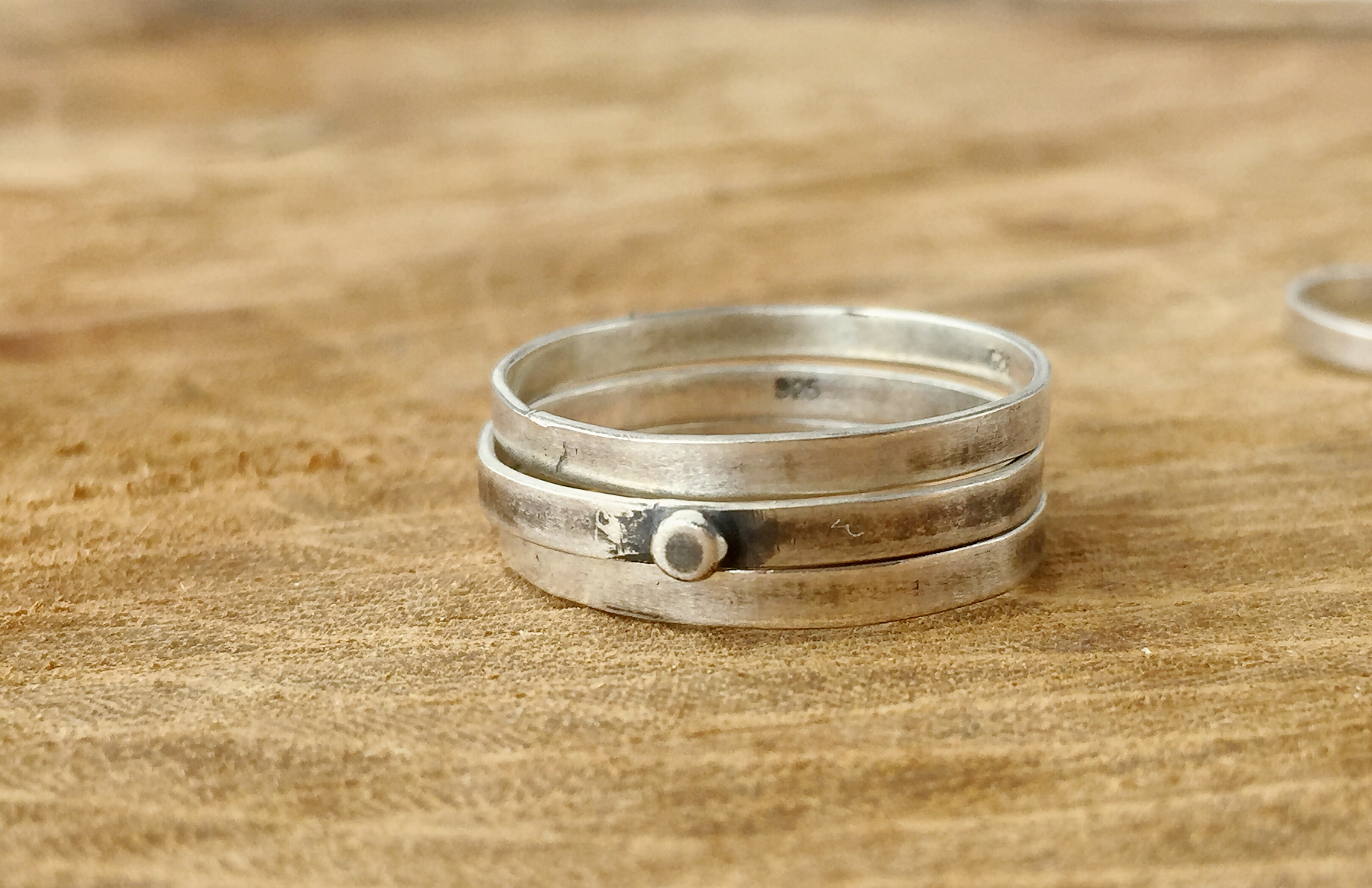 Sterling Silver Dot Stack Rings
