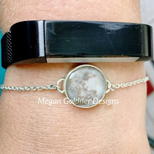 Sterling Silver Personalized Moon Bracelet