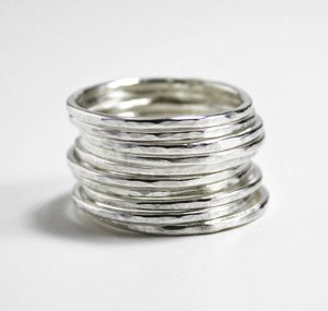 plain hammered rings