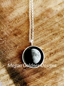 Sterling Silver Personalized Moon Necklace