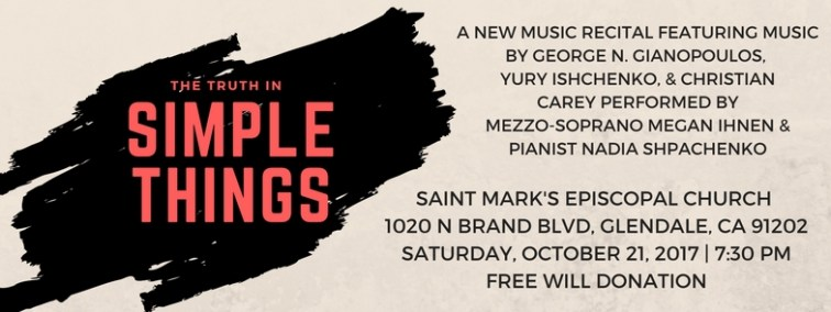 Truth in Simple Things Recital | Megan Ihnen