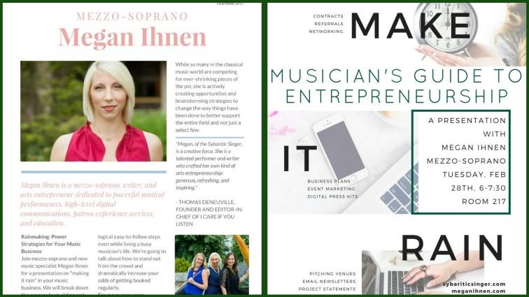 Megan Ihnen | Make It Rain Workshops | Music Business