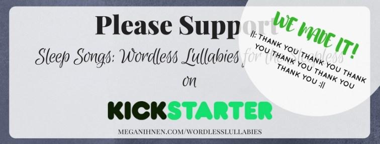 Successful Kickstarter | Megan Ihnen | Sleep Songs