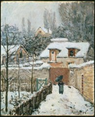Snow at Louveciennes, 1874, Alfred Sisley
