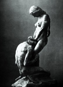 Kneeling Man Embracing a Standing Woman, Gustav Vigeland