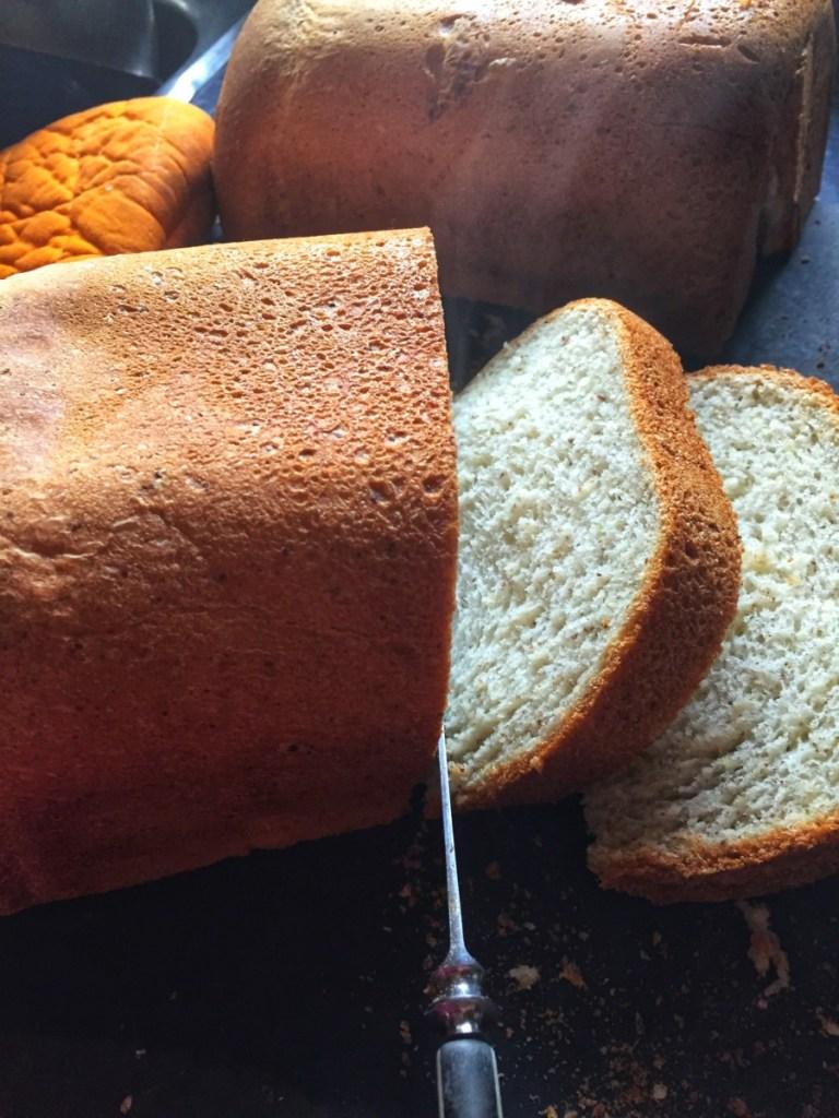 sy Basic Vegan Bread show being cut