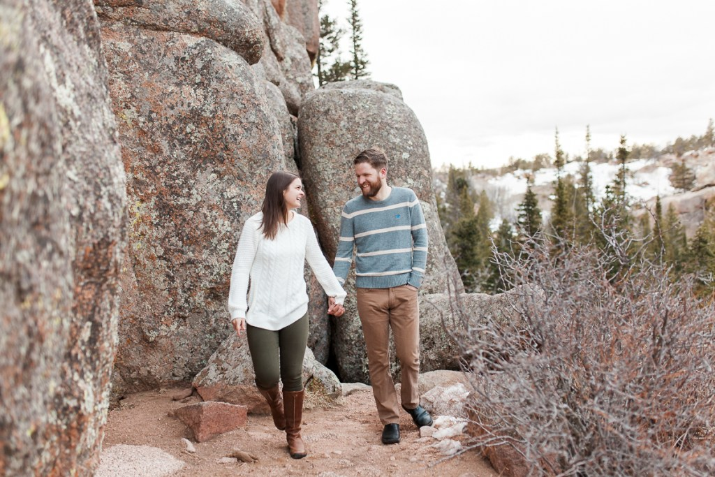 Sunset engagement photography in vedauwoo