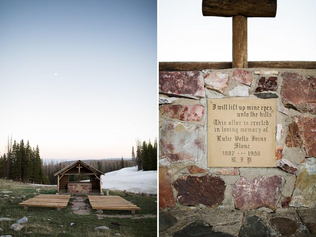 St Albans Chapel, Snowy Range Mountain Wedding Venue near Laramie Wyoming
