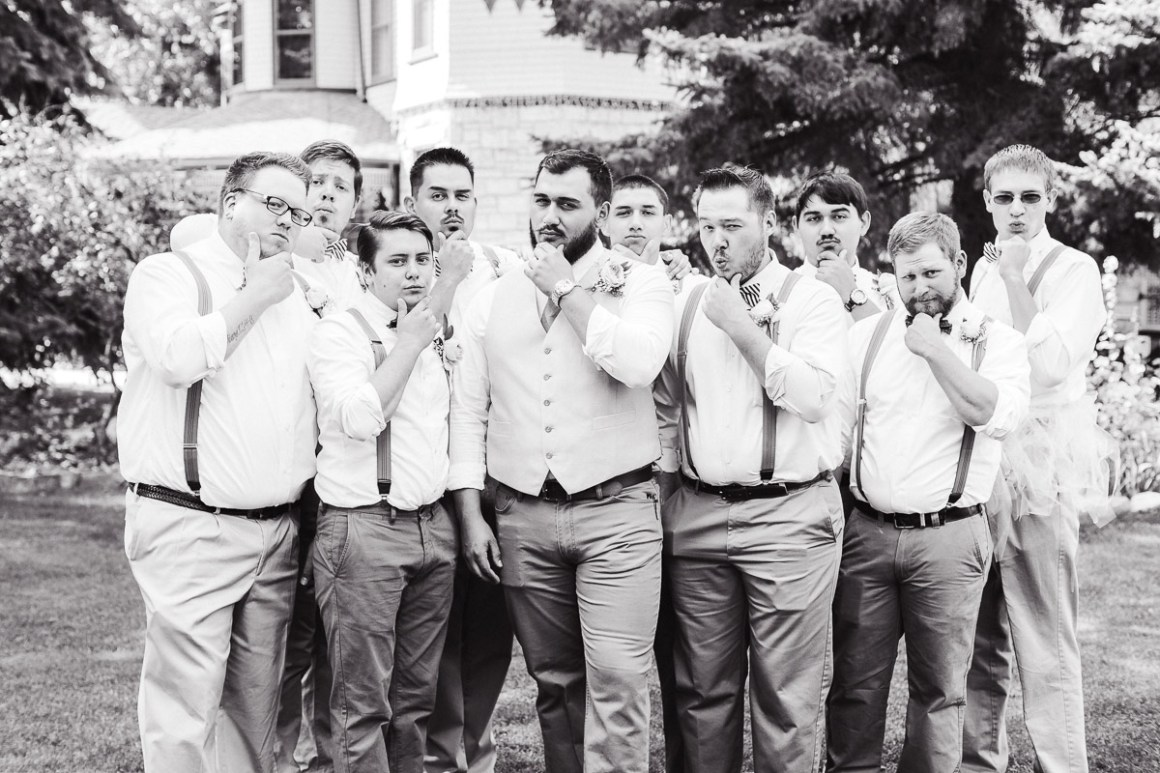 The groomsmen doing their thang..
