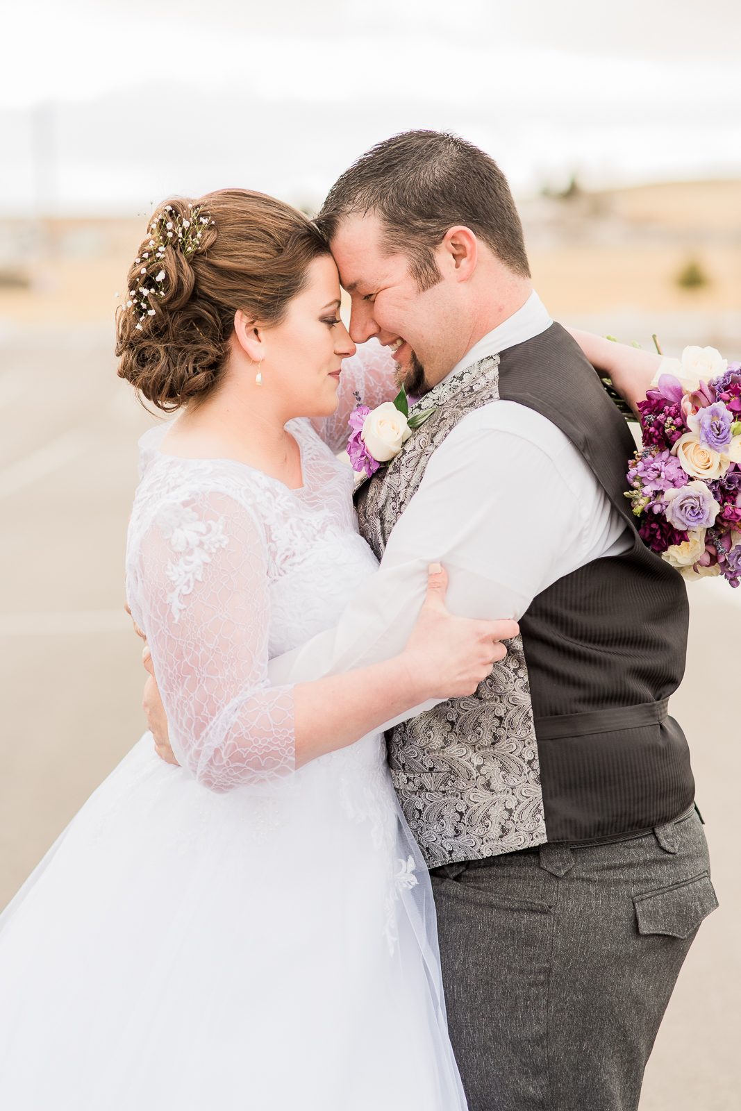 Laramie Wyoming Church wedding in winter, photographed by Megan Lee Photography.