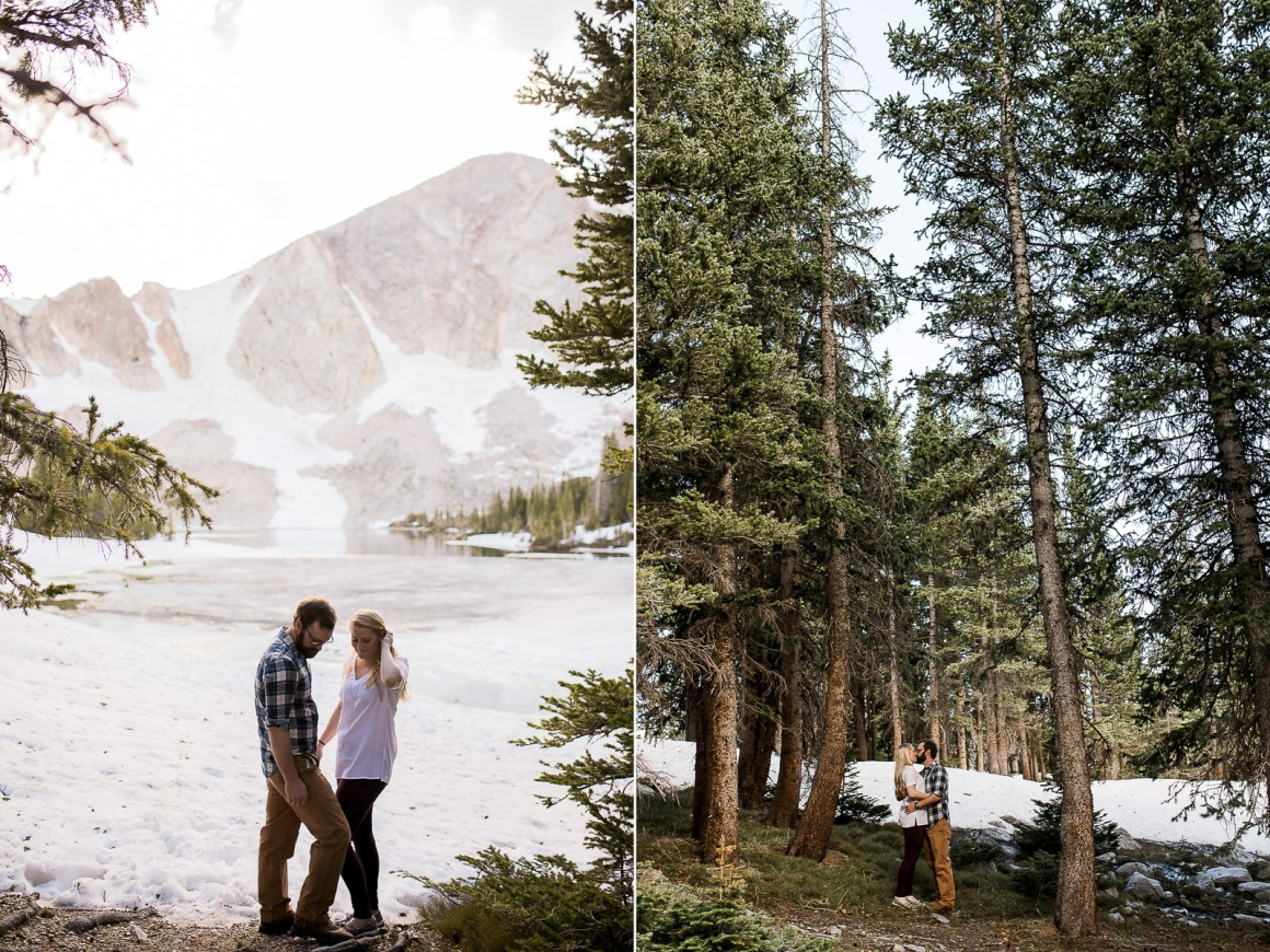 Engagement photography in the mountains of Wyoming by Laramie based photographer.