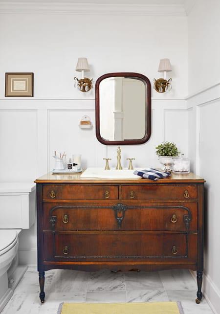 10 Charming Bathroom Vanities Made From Vintage Furniture Megan Morris