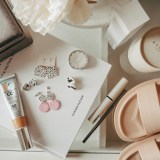 flat lay of spring accessories