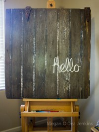 DIY Barn Door Wall Art - Her View From Home