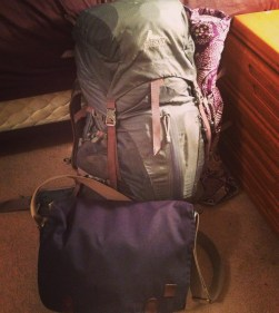 My life, in two bags.