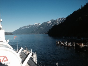 Final ferry ride into Horseshoe Bay