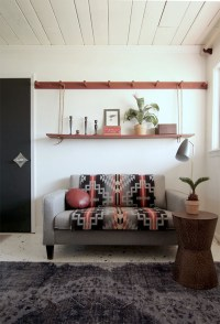 Make a DIY Peg rail & create a killer small space seating area
