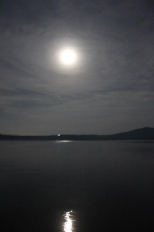 Full Moon at Laguna de Apoyo, Nicaragua 2014