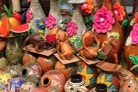Humorous Handicrafts at a Masaya Market, Nicaragua 2014