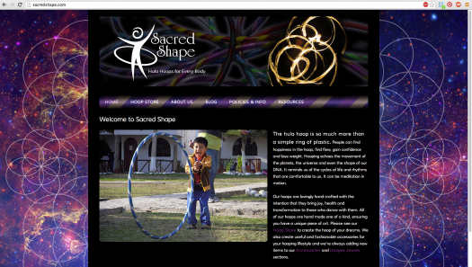 Sacred Shape Web Site Screen Shot