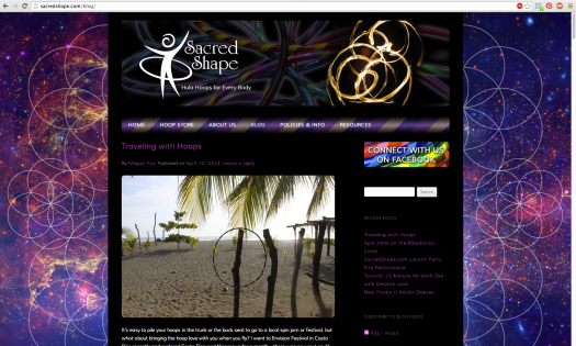 Sacred Shape Web Site Screen Shot 2