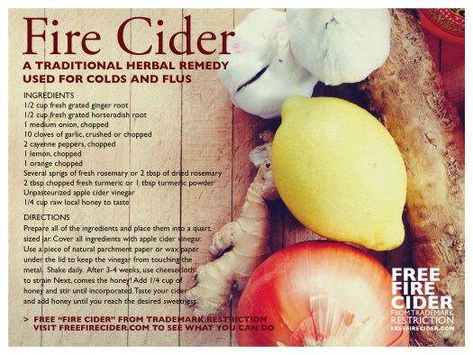 Fire Cider recipe from freefirecider.com