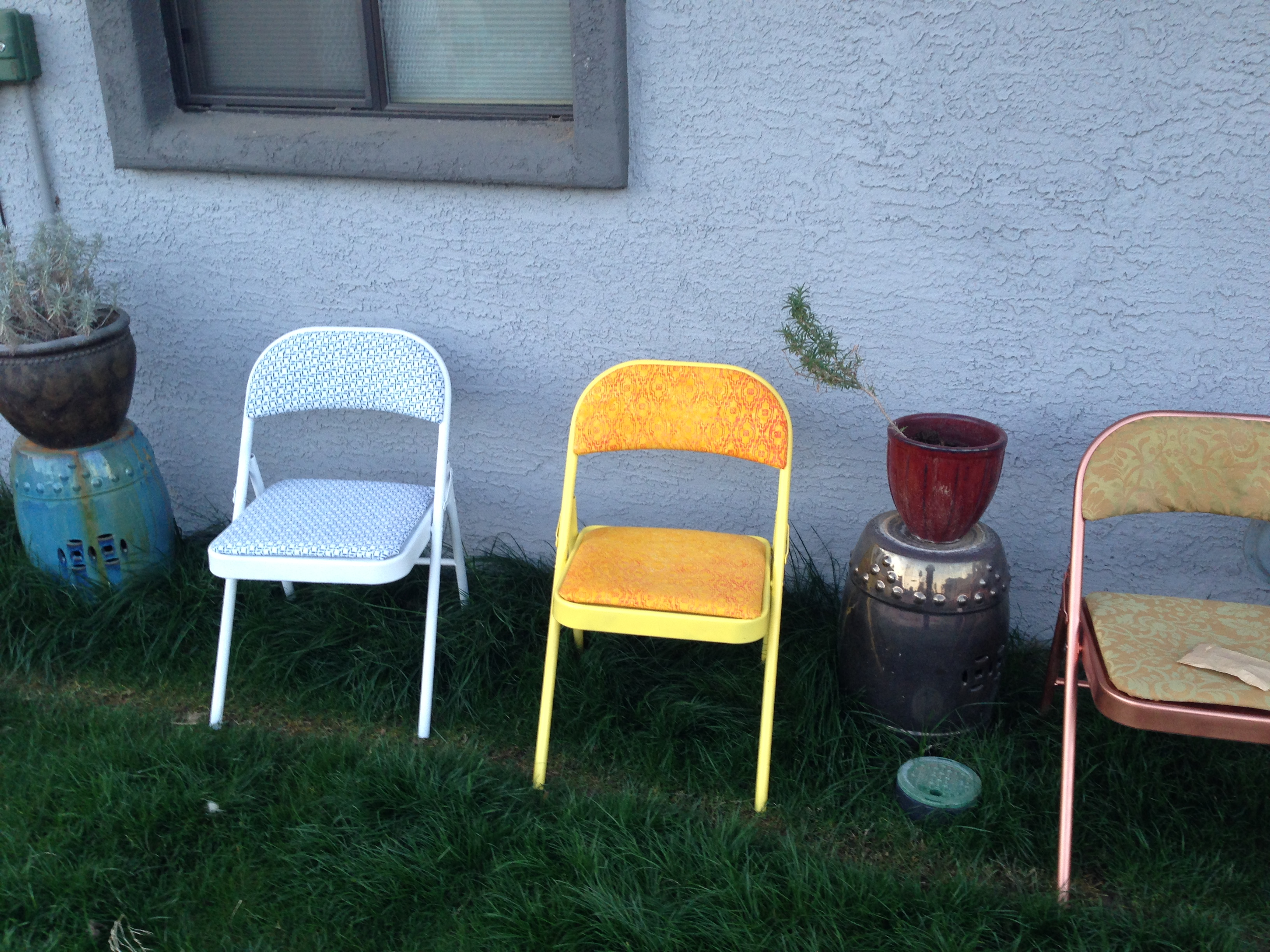 recovering lawn chairs red leather recliner diy recover a folding chair meganrosediy 39s blog