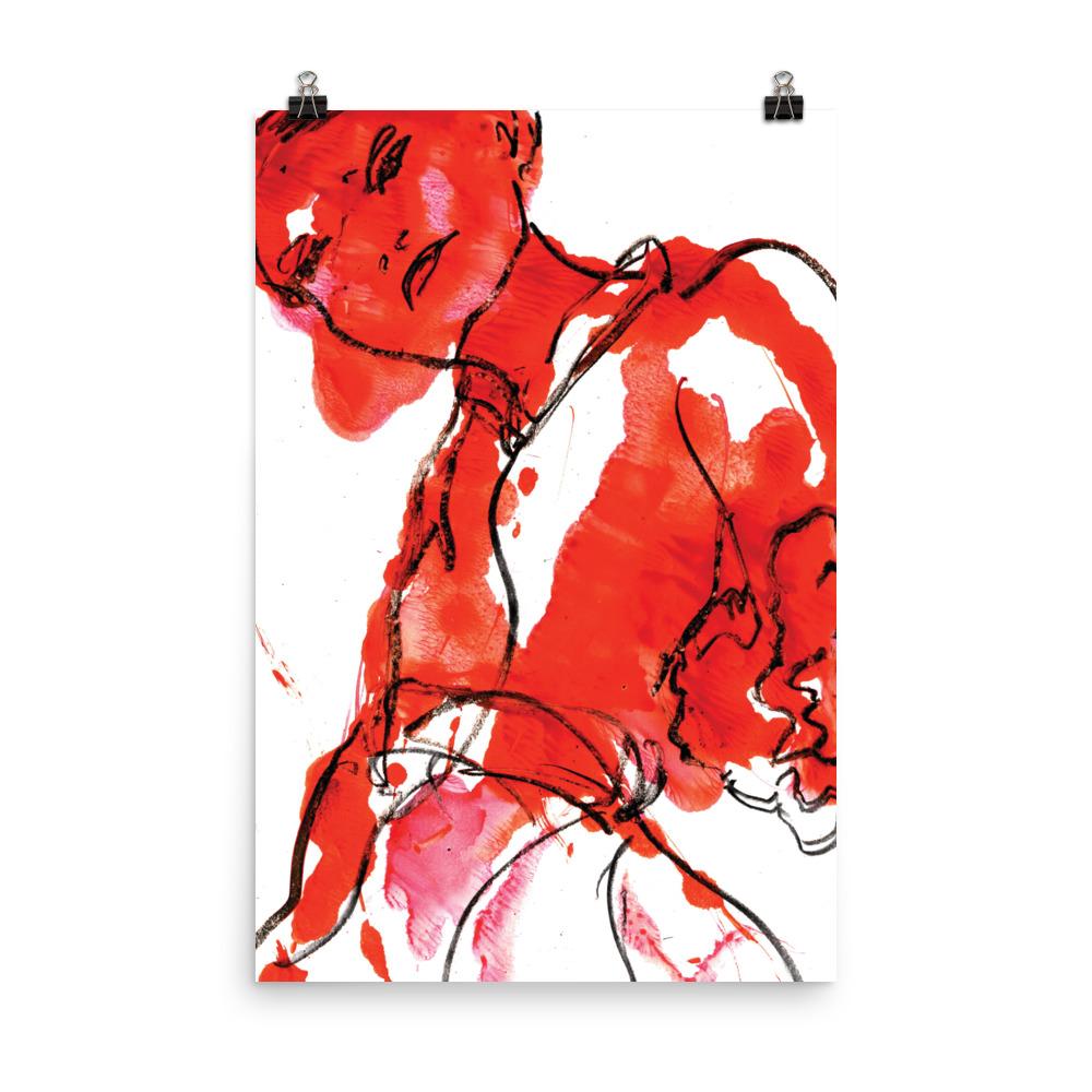 Red woman – Art print