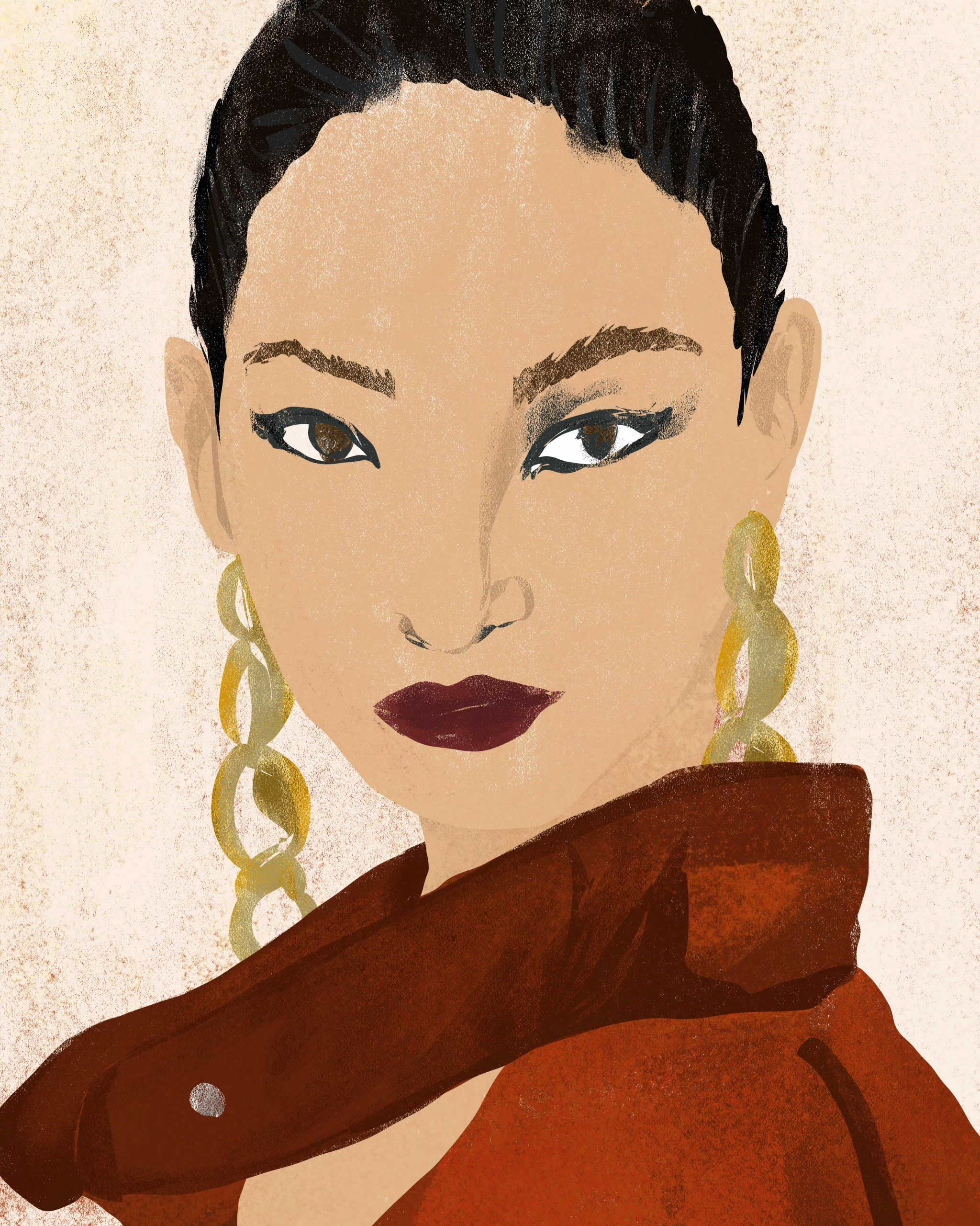 fashion editorial illustration of woman backstage at fashion week illustrator megan st clair