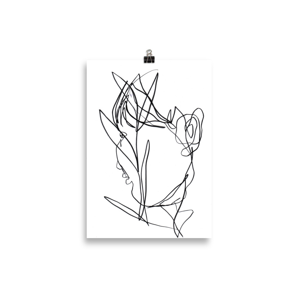 Face in the plants | Art Print