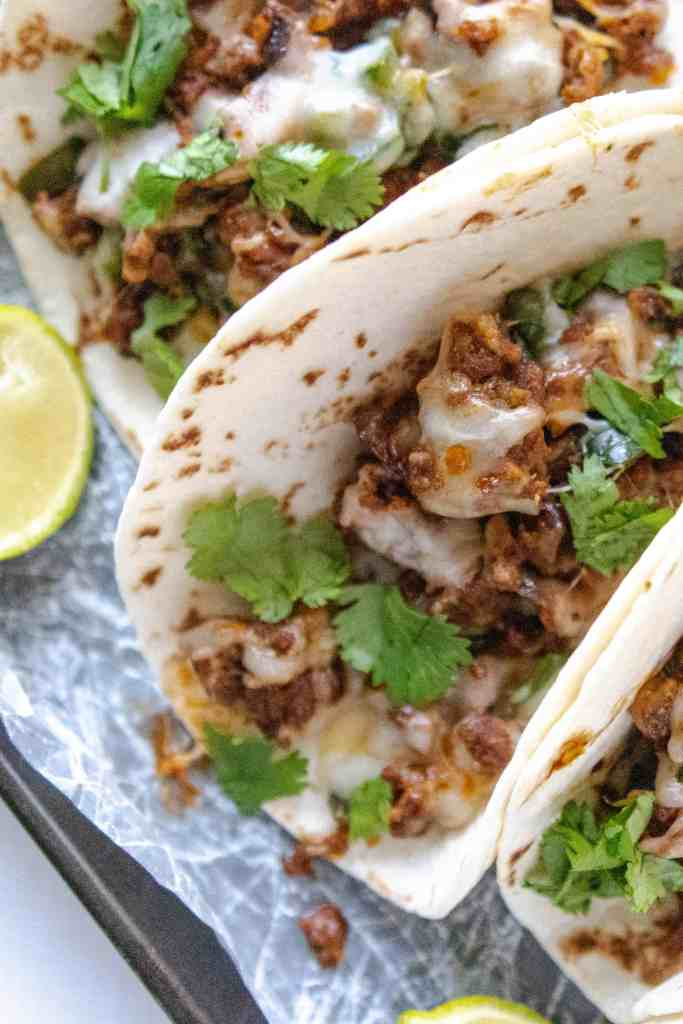 Queso Fundido Tacos